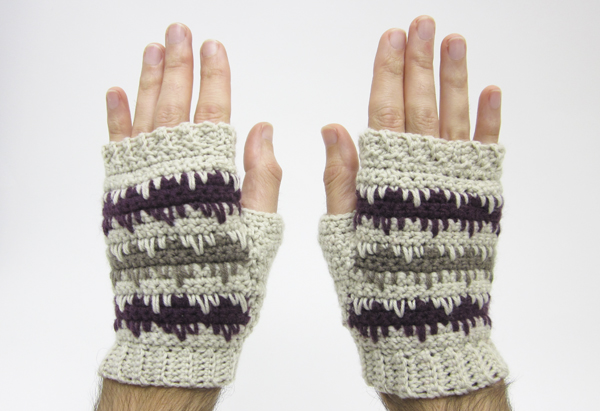Crochet colourwork mittens